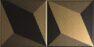 15x15 Trames 1-2 Black-Gold Matt